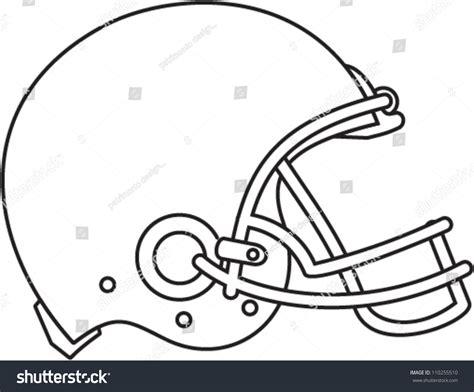 Football Helmet Outline Profile by Line Drawing Illustration American Football Helmet Stock Vector 110255510