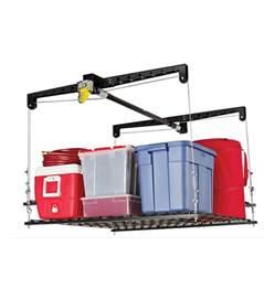 Garage Storage Hoist Garage Rafter Storage Lift In Overhead Garage Storage