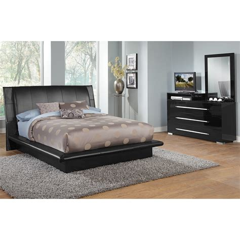 dimora 5 upholstered bedroom set with media