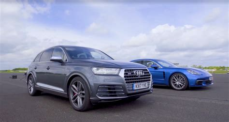 Audi Vs Porsche by Audi Sq7 Vs Porsche Panamera 4s Diesel Race Is Another Way