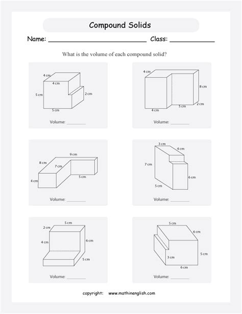 Volume Of Composite Figures Worksheet by Volume Of Solid Figures Worksheet Free Worksheets Library