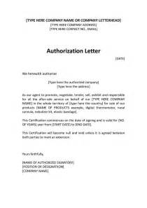 Authorization Letter Use Business Name authorization distributor letter sample distributor