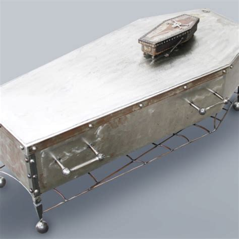 coffin coffee table and dish