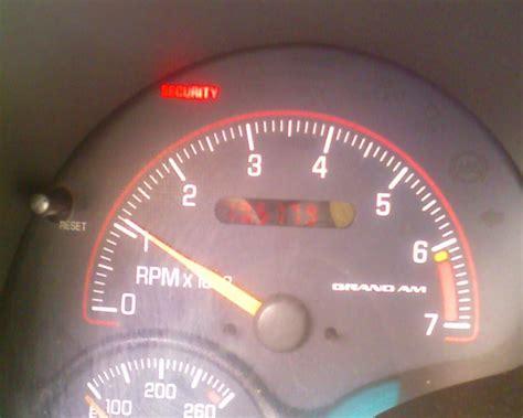 grand am security light 2001 pontiac grand am passlock problem won t start anti
