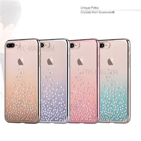 Polka Series Iphone By Ks comma polka series for iphone 7 plus authorized swarovski decor plated pc