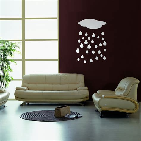 diy cloud drop water 3d mirror acrylic wall sticker