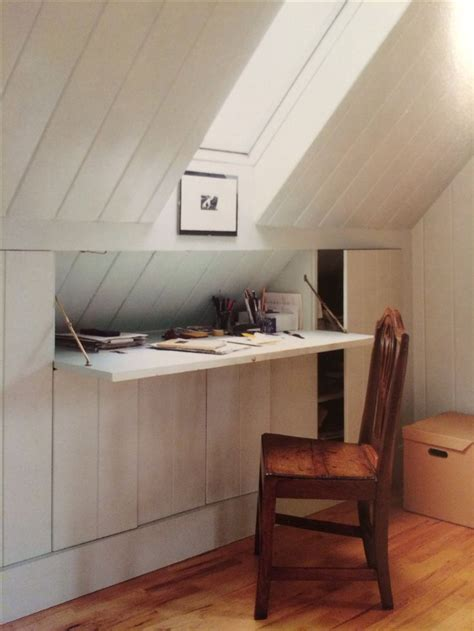 desk with hidden storage hidden desk and attic storage nesting pinterest