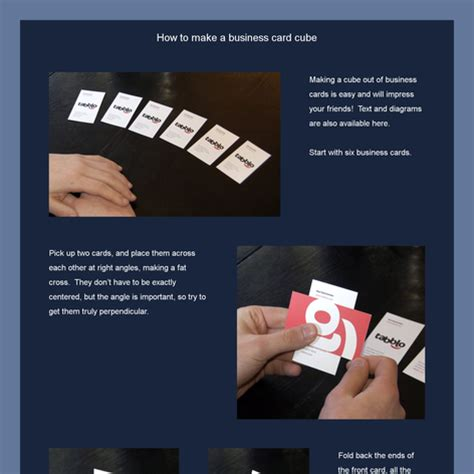540 Card Cube Template by Ned Batchelder How To Make Business Card Cubes