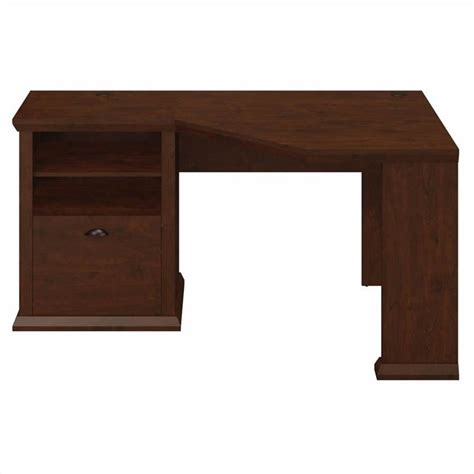 bush yorktown 60w corner desk in antique cherry wc40315 03