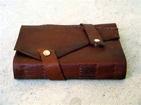 Handmade Leather Journal Tutorial - leather journal cover diy crafts