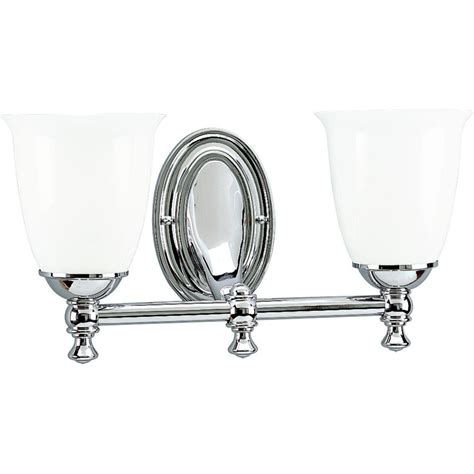 Chrome Lighting Fixtures Progress Lighting Collection 2 Light Chrome Vanity Fixture P3028 15 The Home Depot