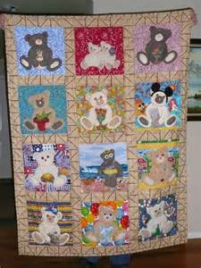 applique teddy for each month quilt quilts