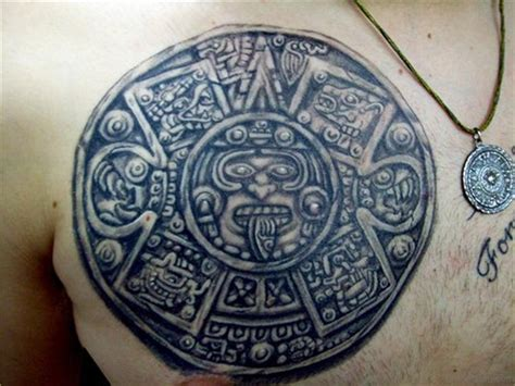 calendar tattoo designs 50 aztec tattoos designs on chest