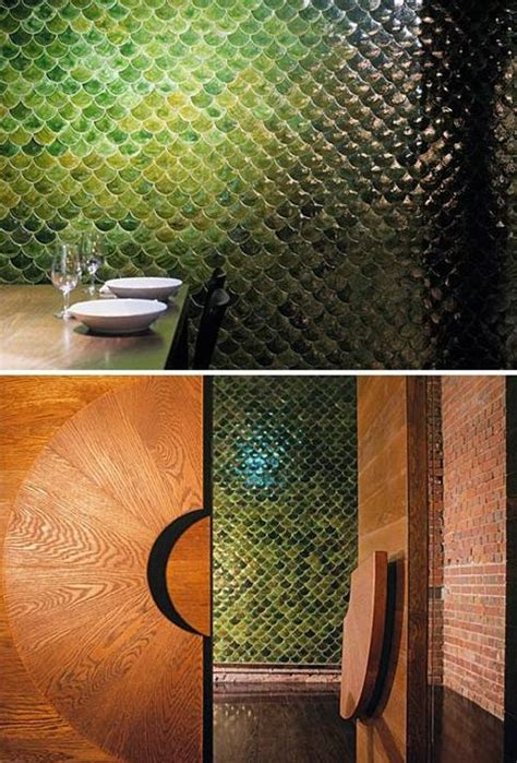 gorgeous  eye catching fish scale tiles decor ideas