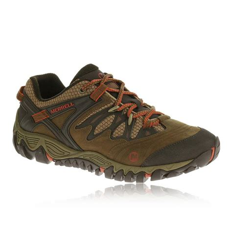 merrell allout blaze mens brown waterproof cushioned road