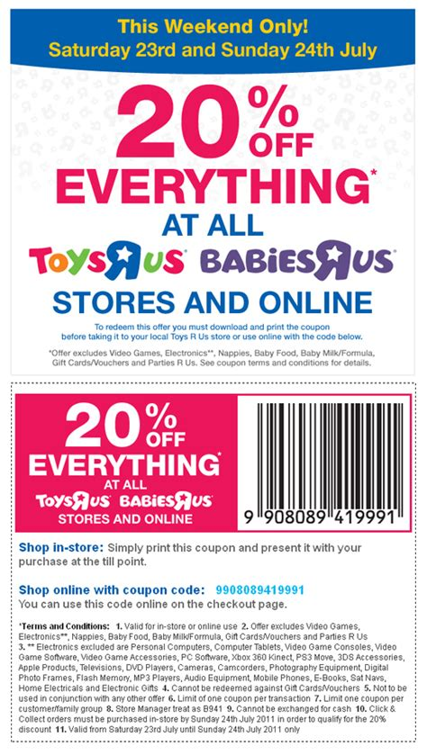 Can I Use A Toysrus Gift Card Online - 20 off almost everything toys r us and babies r us