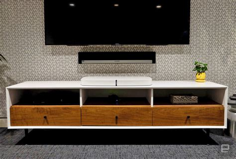 sonos playbase review   speaker  living room