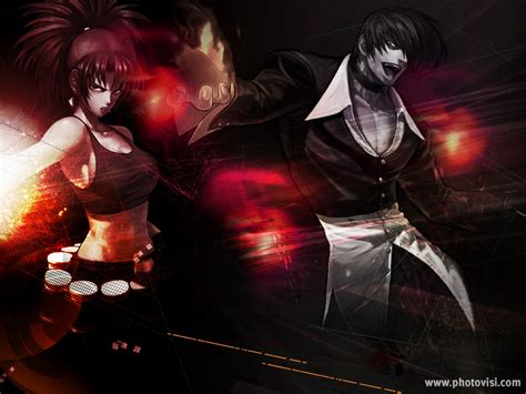 imagenes chidas kof iori and leona wallpaper by catheranheidern on deviantart