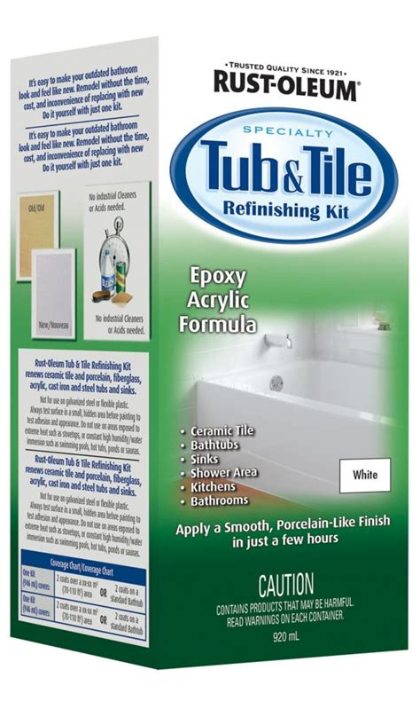 Bathtub Refinishing Paint Home Depot by Rust Oleum Rust Oleum Tub And Tile Refinishing Kit The