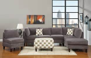 ash grey sectional sofas chair 3pc microfiber sectional