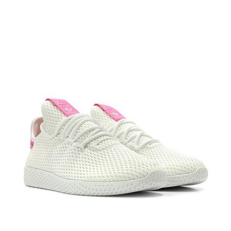 Original Adidas Sepatu Pharrell Williams Tennis Hu By8714 adidas pharrell williams tennis hu solar pink habitat store
