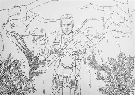 coloring page jurassic world coloring page jurassic world drawing my path