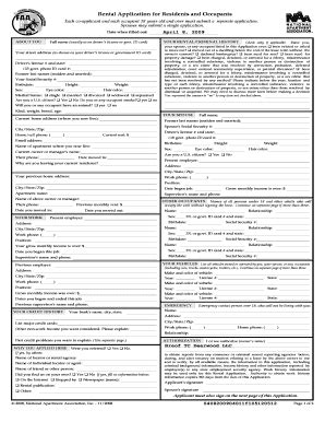 Apartment Association Lease Form National Apartment Association Lease Fill