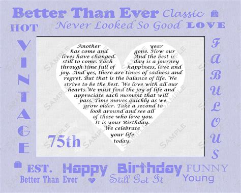 75th Birthday Quotes For Happy Birthday Poems For Daughter The Happy 75th