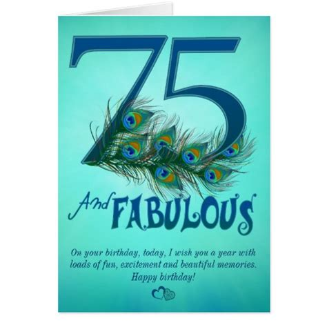 75th Birthday Cards Messages Happy 75th Birthday Gifts T Shirts Art Posters Other