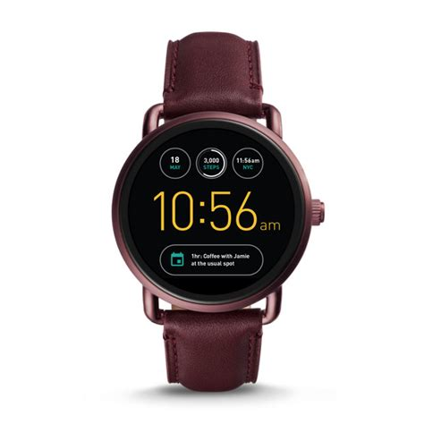 Smartwatch Fossil Q Wander fossil q wander touchscreen wine leather smartwatch fossil