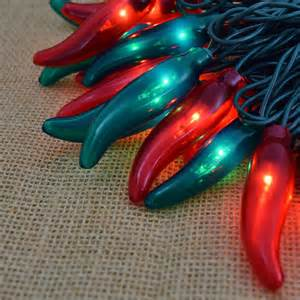Chili Pepper Outdoor Lights And Green Chili Pepper String Lights 35 Lights