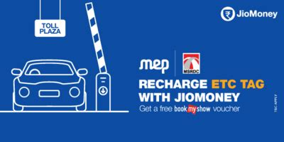 bookmyshow mulund recharge your etc tag mumbai using jiomoney app and get