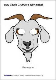 printable mask goat excellent free printable masks for the 3 billy goats gruff