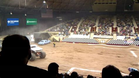 monster truck show hton coliseum monster truck at brown county arena youtube