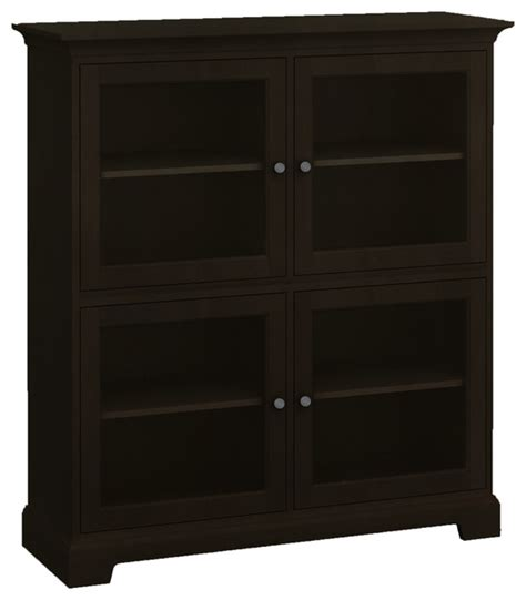 howard miller custom storage cabinet 4 glass doors
