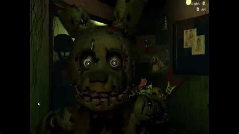 Five nights at freddy s 3 spring trap jump scare youtube