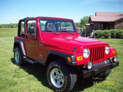 2004 Jeep Wrangler Top Buy Used 2004 Jeep Wrangler Sport Soft Top In