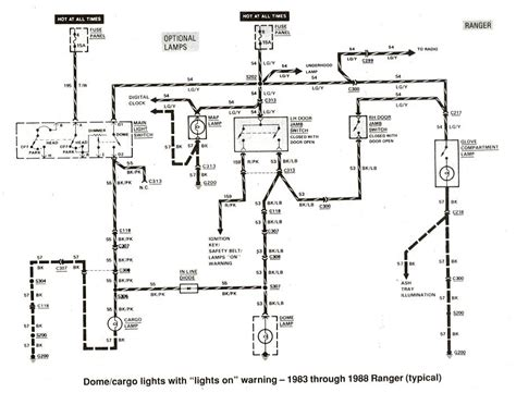 ford ranger wiring by color 1983 1991 regarding ford