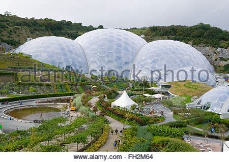 geo dome greenhouse in garden of rural town of usk