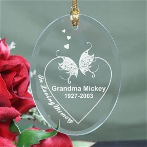 personalized memorial christmas ornament engraved in