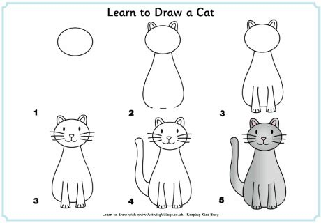 how to draw doodle cat 1 learn to draw a cat