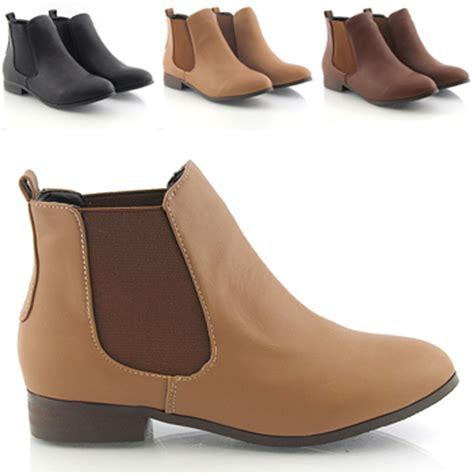 new womens low heel flat chelsea vintage pixie booties