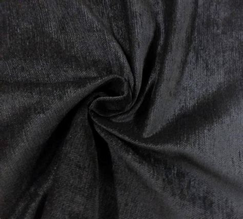 Black Poly Velvet Flame Retardant Fabric Upholstery