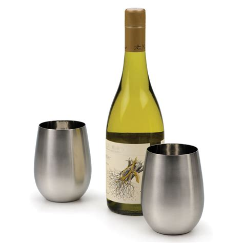stemless wine glasses stemless stainless steel wine glasses the green head