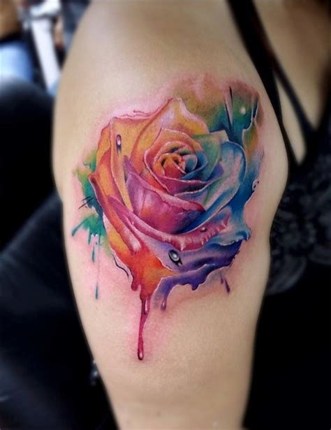 coloured rose tattoos 88 best flower tattoos on the amazingly beautiful