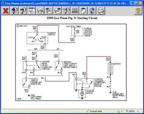 1991 geo prizm wiring diagram free picture | new wiring
