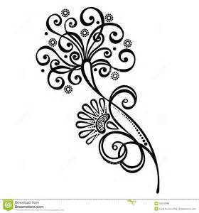 decorative flower with leaves royalty free stock photos