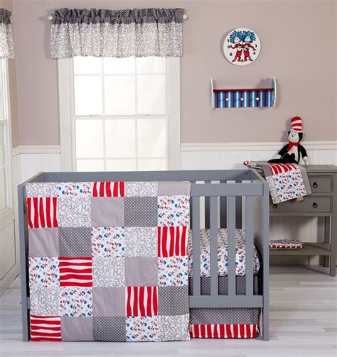 dr seuss bedroom set dr seuss cat and things 3 piece crib bedding set trend