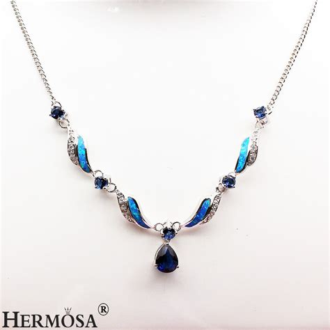 Handcrafted Silver Necklaces - handcrafted australia opal tanzanite 925 sterling