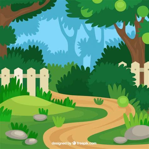 garden layout vector flat garden path design vector free download